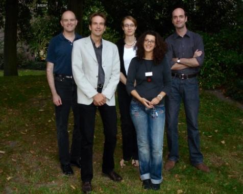 (l to r) Christopher Maines, Klaas Jan van den Berg, Catherine Higgitt, Ester Ferreira, Ken Sutherland