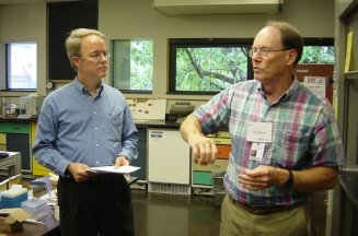 Workshop Instructors Michael Schilling and Chris Petersen at Winterthur